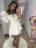 Dámske biele letné šaty Foggi SUN s krajkou