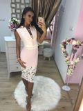 Dámske spoločenské ružové šaty Foggi PINK FLOWERS