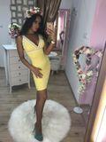 Dámske žlté šaty Foggi SUNSET