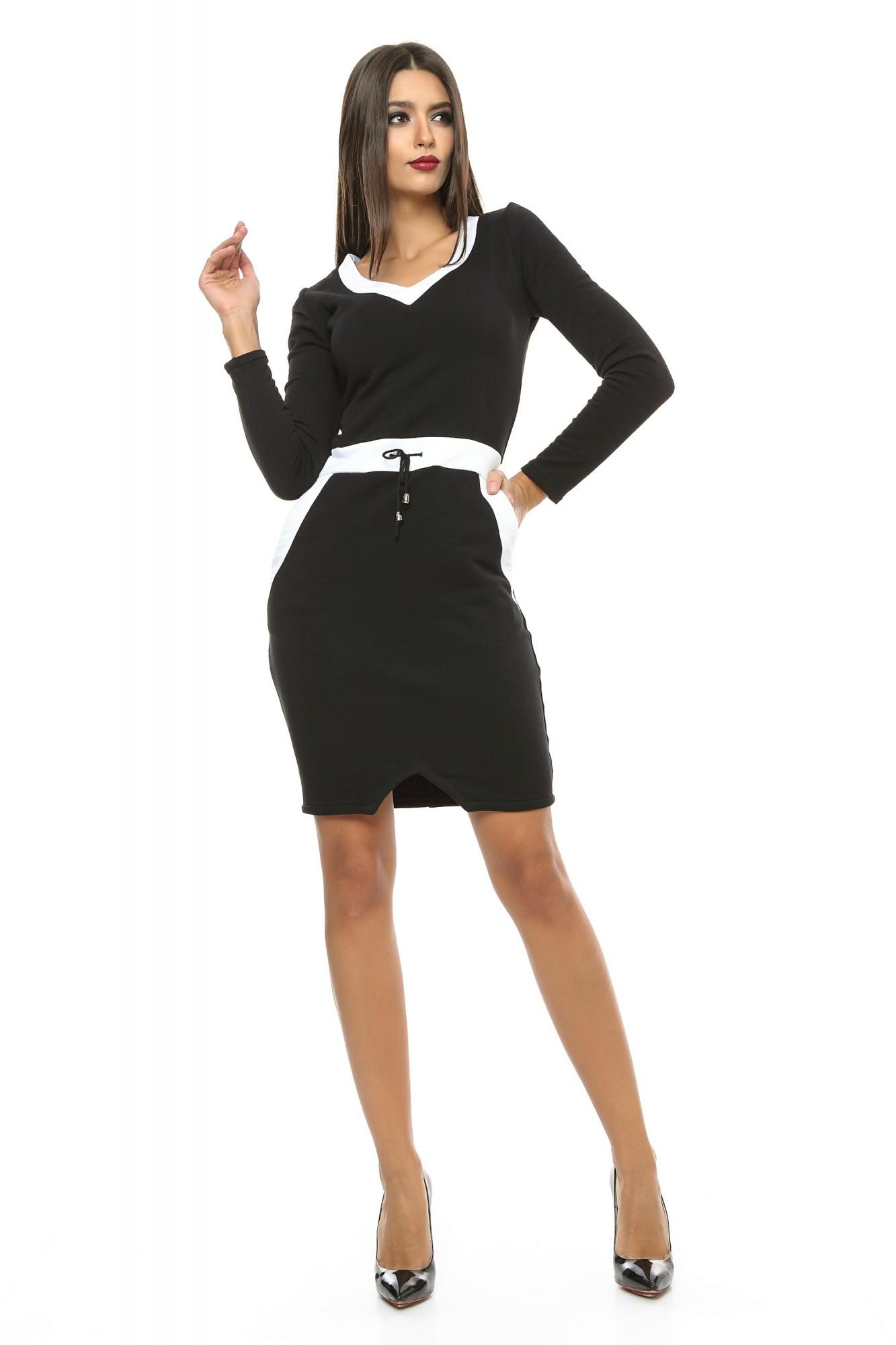 Dámske čierne šaty NATALY - S