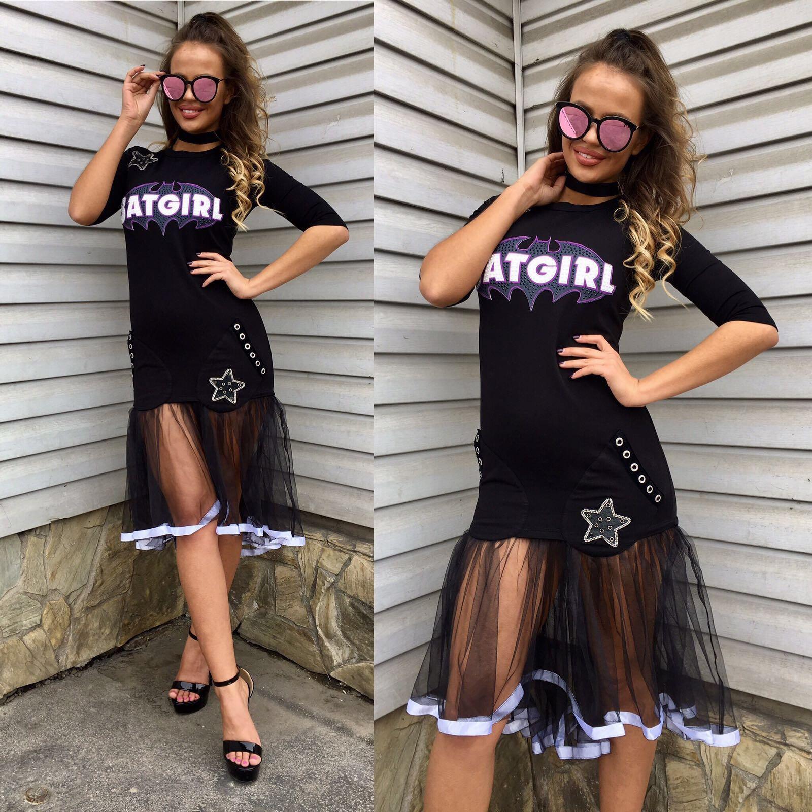 Dámske čierne šaty OCASSION BATGIRL - L