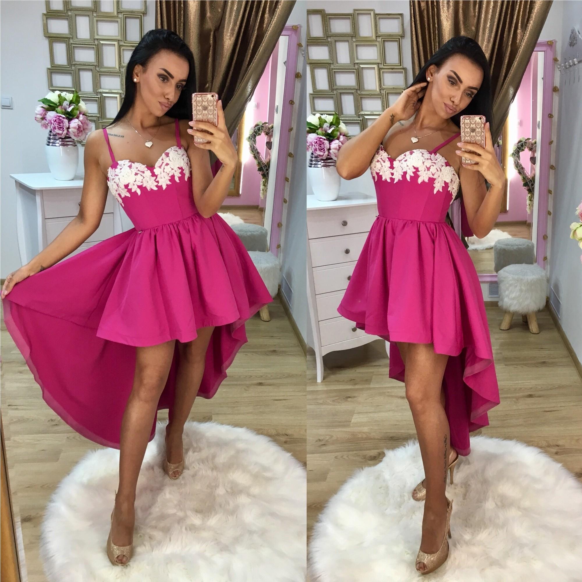 80be006c5263 Dámske purpurové šaty Foggi PEARLS - S odporúčame pre XS