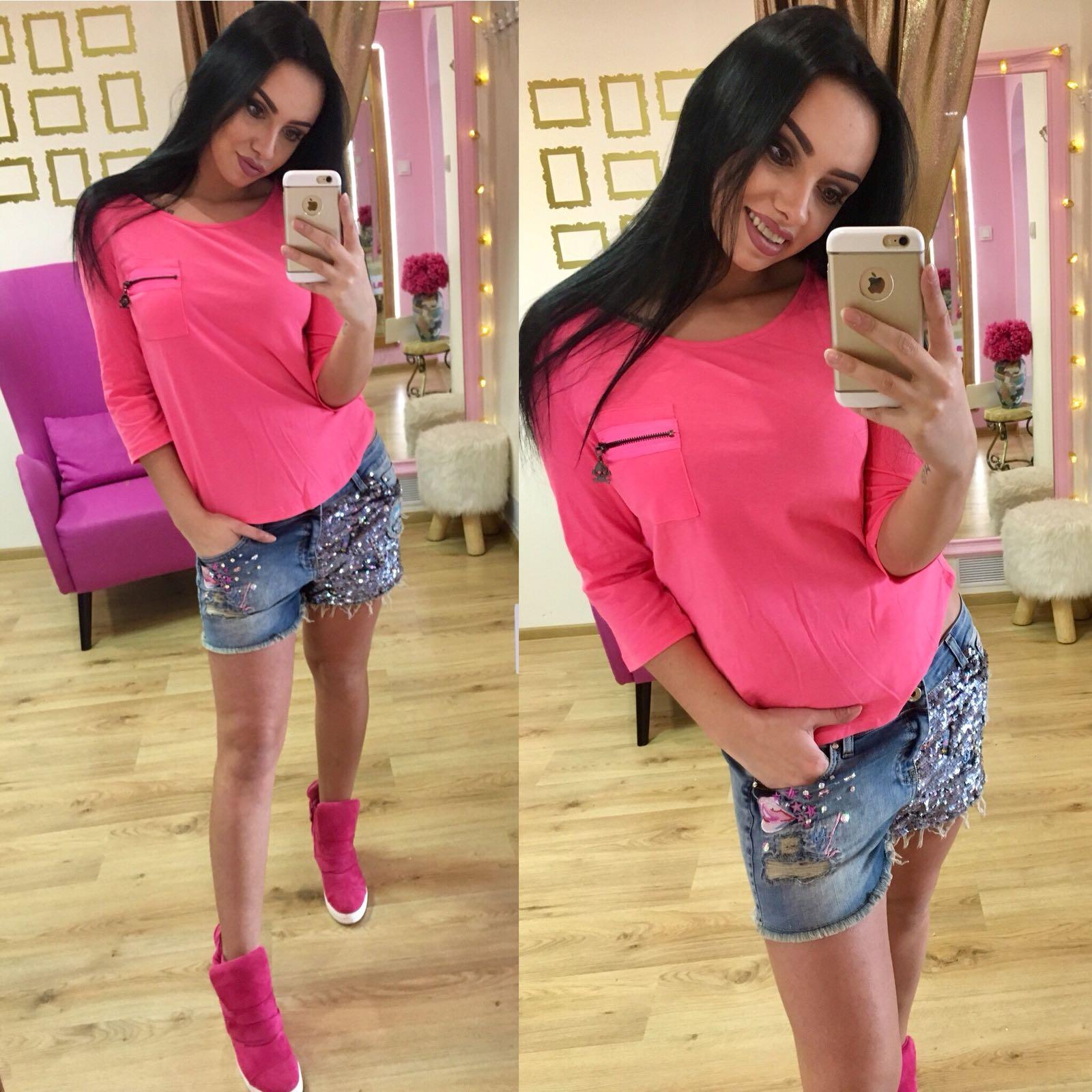 Dámske ružové tričko - M
