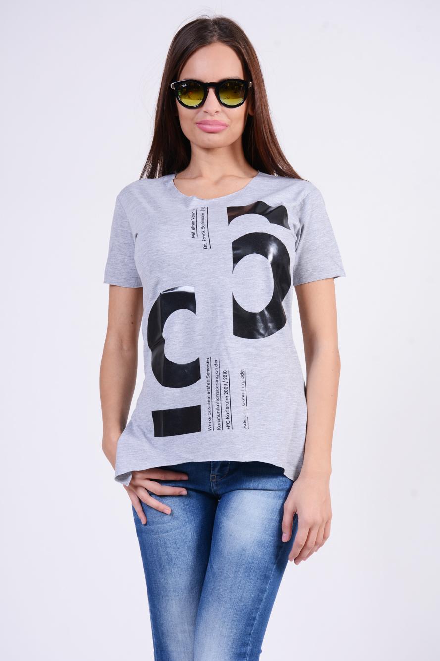 Dámske šedé tričko PUNK6 - M