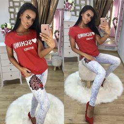Dámske červené tričko MOSCHINO