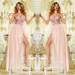 Dámske dlhé ružové spoločenské šaty Foggi LOVE