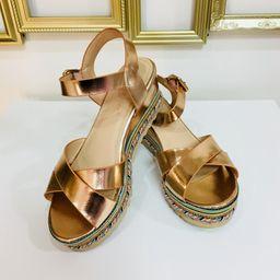 Dámske medené sandále na platforme SUN