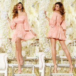Dámske ružové čipkované šaty Foggi SWEET