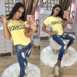 Dámske žlté tričko BLONDE