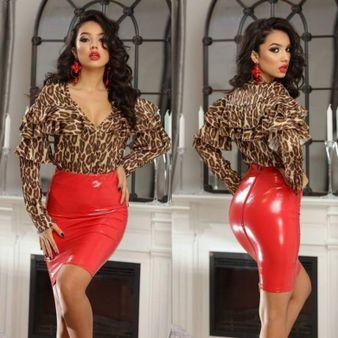 Dámska červená sukňa FOGGI Sexi