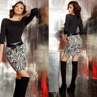 Dámska sukňa FOGGI so vzorom zebra