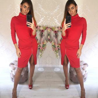 Dámske červené šaty SEXI Lady
