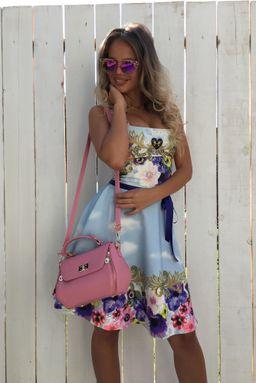 4172ee68ff3a Dámske farebné šaty NI SUMMER FLOWERS s kryštálmi