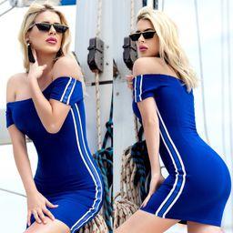 ce7bfdd77e14 Dámske modré šaty Foggi SUMMER GIRL