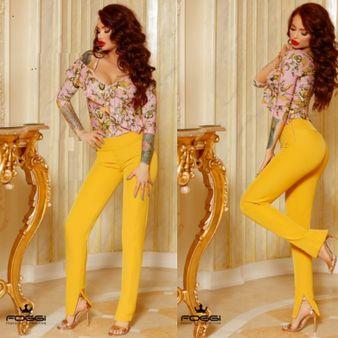 Dámske nohavice FOGGI Yellow