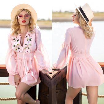 Dámske ružové šaty Foggi PINK FLOWER