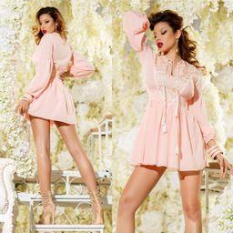 Dámske ružové šaty s výšivkou a flitrami Foggi SUMMER