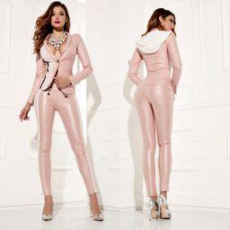 Dámske ružové slim nohavice Foggi ROMANTIC