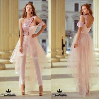 Dámsky ružový elegantný overál Foggi PRINCESS