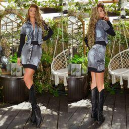 Dámsky sukňový riflový komplet Foggi Style